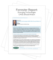 Forrester report - Emerging Technologies CMOs should watch
