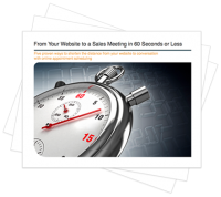 From Your Website to a Sales Meeting in 60 Seconds or Less